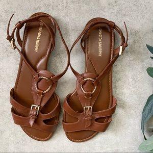 Johnston & Murphy Leather Sandals